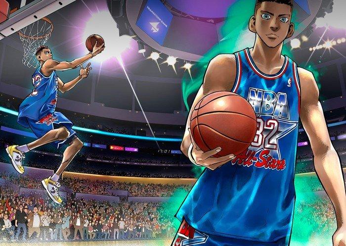 لاعبو كرة سلة مشاهير يتعاونون مع مساعد مانجاكا سلام دانك في عمل فني رائع!