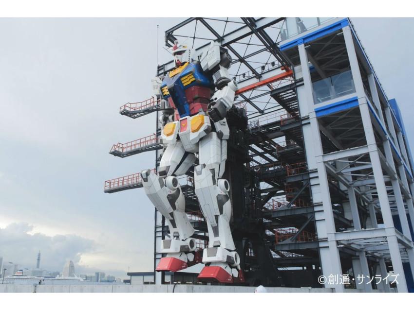 مجسم كاندام العملاق يعمل بطاقة الرياح!